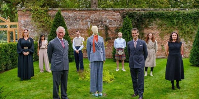 Prince Charles teamed up with design students for a clothing collection with Yoox Net-A-Porter. (Yoox Net-A-Porter for the Prince's Foundation).