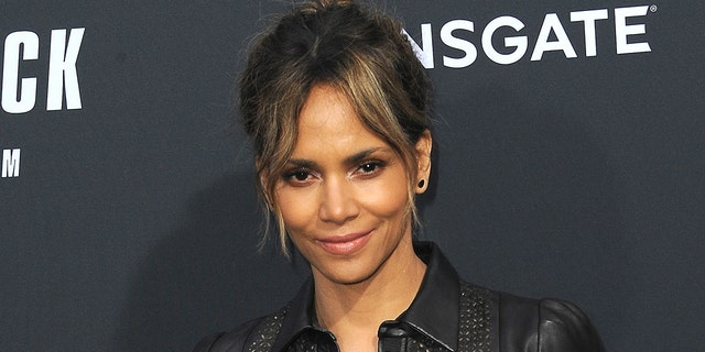 Halle Berry shared a photo of her 'I voted' sticker on Instagram. (Getty Images)