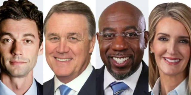 Candidates in Georgia Senate runoff elections Jan. 5, left to right: Jon Ossoff, Sen. David Perdue, Raphael Warnock and Sen. Kelly Loeffler.