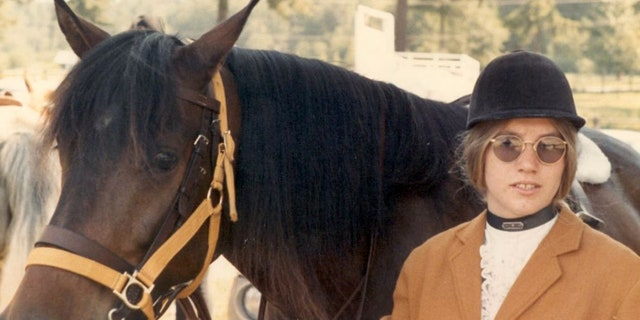 Jody Loomis and her horse in 1972.