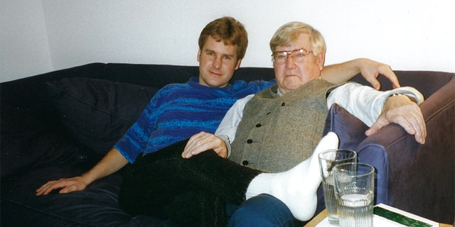 Edwin Hawes with his father Robert Hawes. According to Oxygen's 'Killer Siblings,' the patriarch took his life in 2007.