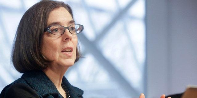Oregon Gov. Kate Brown, D,. (Photographer: Meg Roussos/Bloomberg via Getty Images)