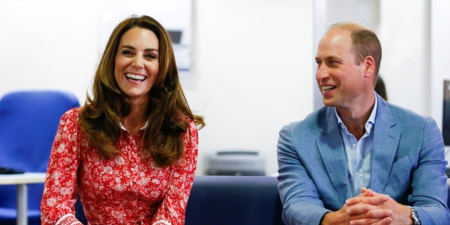 Prince William, Duke of Cambridge and Catherine, Duchess of Cambridge speak at an event on Sept. 15 in London, England.