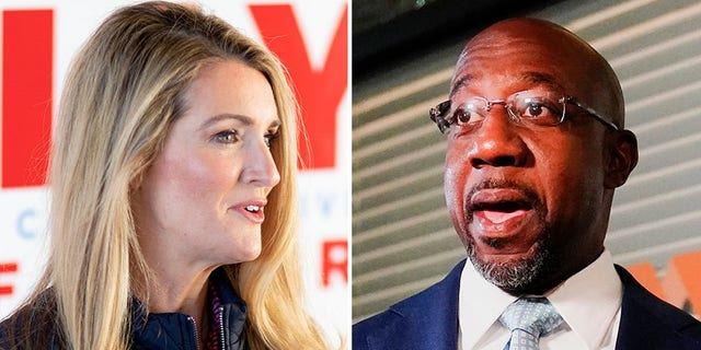 Sen. Kelly Loeffler (Left) and Raphael Warnock (Right) are in a run-off election for Georgia's U.S. Senate seat that could decide the body's agenda for the coming two years. (AP)