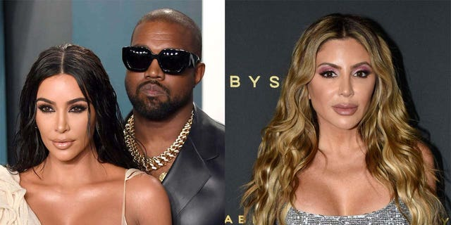 Larsa Pippen (destra) suggested that her rift with Kim Kardashian (sinistra) may be due in part to Kanye West (centro).