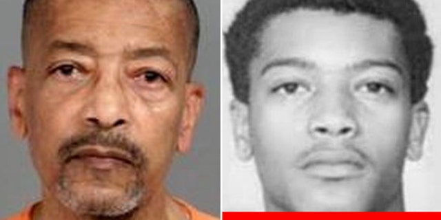 Face photos of Leonard Moses (68 years old), taken in 2020 and 1968