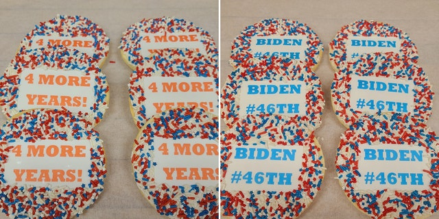 """The bakery will bee debuting a """"celebratory"""" cookie in honor of the winner, with special sweets planned in the event of either a Trump or Biden victory."""