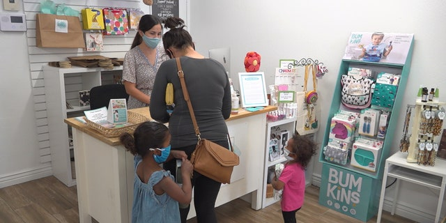Zoolikins in Scottsdale has added hand sanitizing stations, updated its website and requires mask usage inside the store (Stephanie Bennett/Fox News).