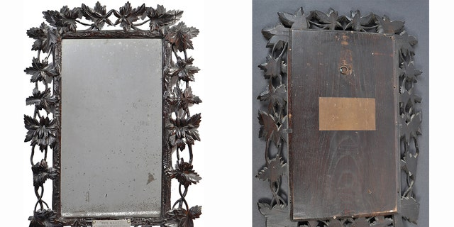 Marie's mirror had been hanging on a family's bathroom wall for decades. It is now expected to sellfor least $10,000 at auction on Friday.