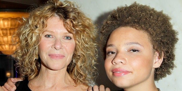 Actress Kate Capshaw (left) and daughter Mikaela George Spielberg (right).  (Photo by Donato Sardella / Getty Images for EIF)