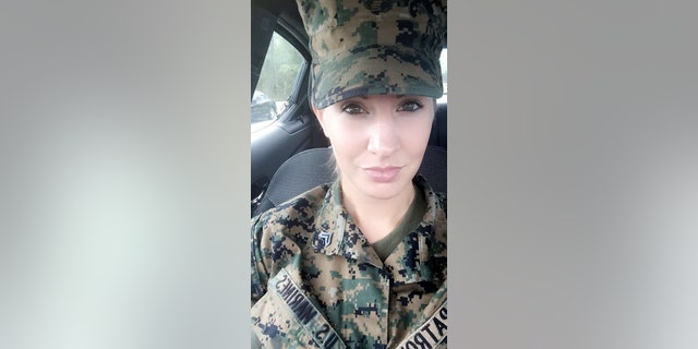 """""""My Marine Corps uniform will forever be the most prideful thing I will ever wear. But with the uniform, comes uniformity. And being a female, you can lose your feminine touches. My Marines used to call me 'a cool guy with long hair.' Pin-up girls are very feminine. They are classy. And they are beautiful. Being a pin-up shows that even though we spent years tying our combat boots and twirling our hair into buns to look more masculine, we are still beautiful women. We are gorgeous, classy women with a background that surprises mostly anybody we meet. Being a pin-up is an honor and a privilege, just like my five years spent in the Marine Corps."""" - Monica, USMC, 5 years"""
