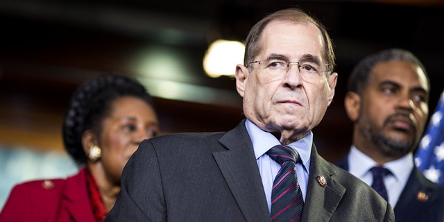 House Judiciary Committee Chairman Rep. Jerry Nadler (D-NY) attends a news conference on April 9, 2019 in Washington, DC. (Photo by Zach Gibson/Getty Images)