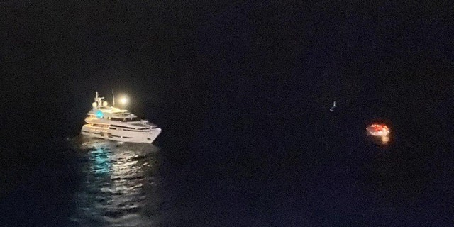 The Carnival Ecstasy cruise ship responded to the call on Tuesday.