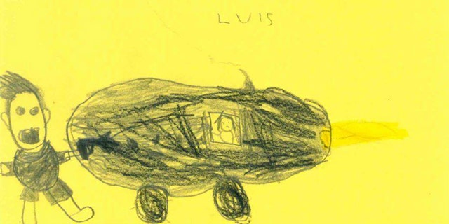 The six-year-old Louis planned a crash for the police in Hamm, Germany.