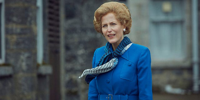 Gillian Anderson stars as Conservative Prime Minister Margaret Thatcher in 'The Crown.'