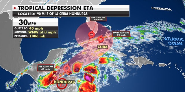 Tropical Depression Eta is still bringing heavy rains across Central America.