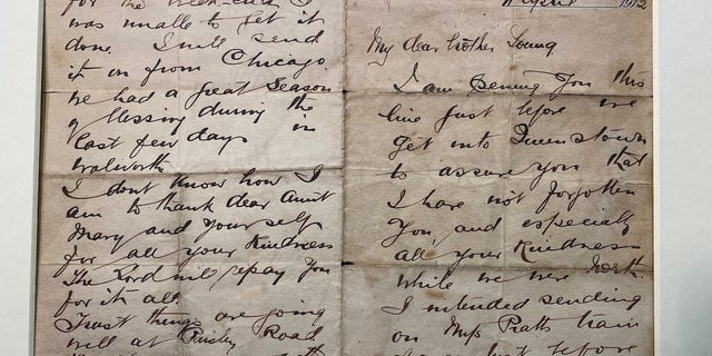 The letter was written by John Harper, the pastor of Walworth Road Baptist Church in London.