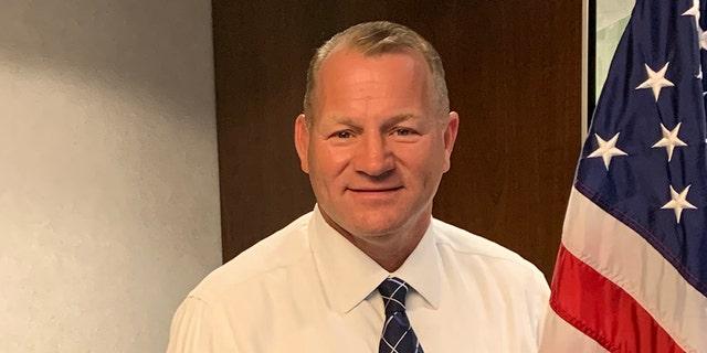 Il rappresentante eletto Troy Nehls, R-Texas, at new member orientation in Washington DC in November 2020. (Marisa Schultz/Fox News)