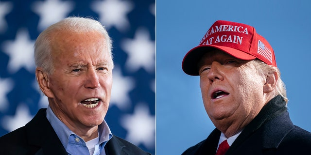 President Trump and Joe Biden on Monday as they made their final pitches to voters (Getty Images)