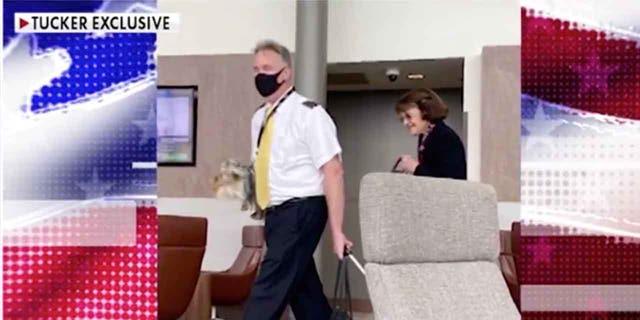 Sen. Feinstein spotted walking around Senate without a mask - Tucker 2