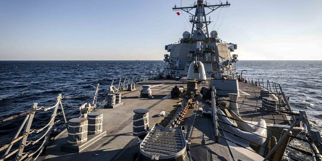 The USS John S. McCain carried out a freedom of navigation operation through Peter the Great Bay on Tuesday, the Navy said.