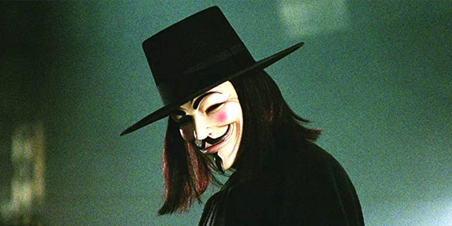Hugo Weaving starred as V in 'V for Vandetta.' the character donned a Guy Fawkes mask and encouraged civil disobedience.