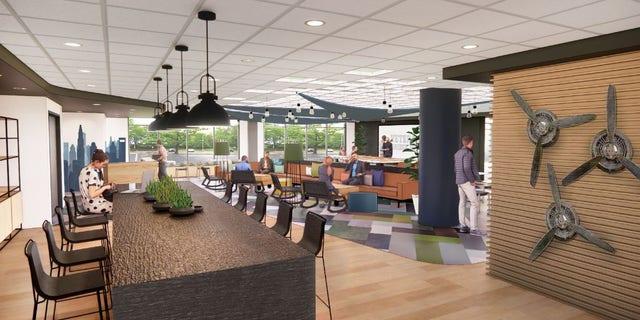 The renderings of a new lounge at the VBH in Charlotte were revealed on Wednesday.