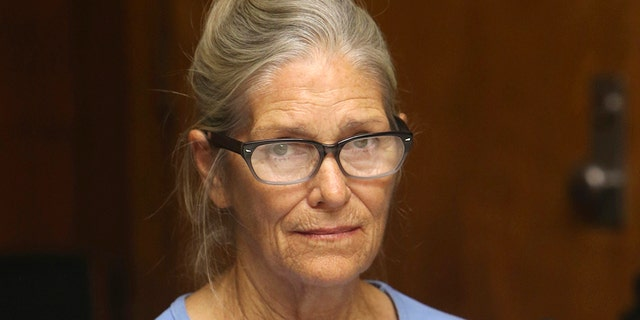 In this Sept. 6, 2017, file photo, Leslie Van Houten attends her parole hearing at the California Institution for Women in Corona, Calif. California Gov. Gavin Newson has reversed parole for Charles Manson follower Leslie Van Houten, marking the fourth time a governor has blocked her release, Saturday, Nov. 28, 2020. (Associated Press)