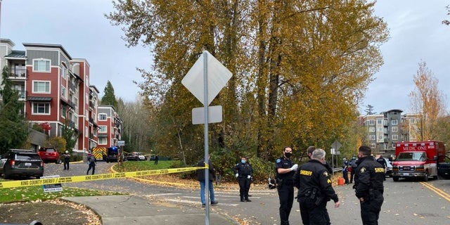 Two King County Sheriff's deputies were wounded in a gunfight with an armed suspect Monday.