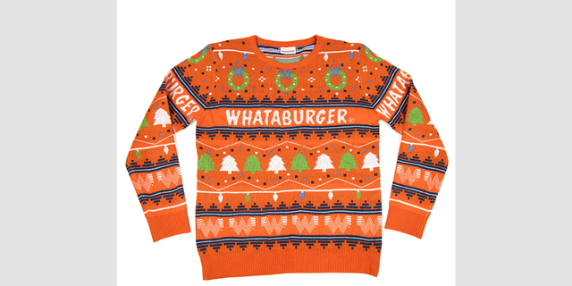 """""""Treat yourself to our 2020 Christmas Sweater to show off your Whataburger Pride this Holiday season,"""" reads a description of the product."""