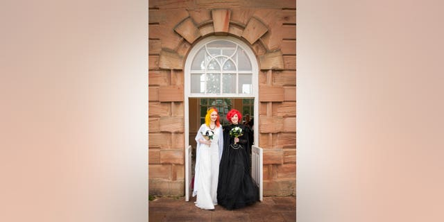 """""""It was so out there and different, I really did appreciate everything about it,"""" McKenna said of their Halloween wedding.(SWNS)"""