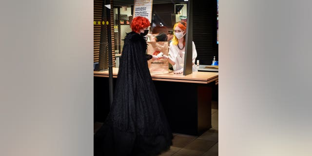 The Scottish coupleScotland recently celebrated their marriage with a reception at McDonald's, after the coronavirus pandemic derailed their traditional plans. (SWNS)