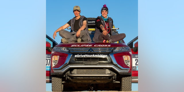 Ridenour and Behrend finished second in class in the 2019 Rebelle Rally driving a Mitsubishi Eclipse Cross.