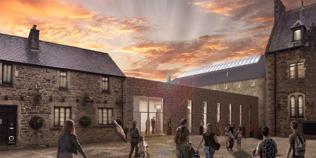 The former Bodmin Jail has been reimagined as a tourist attraction and luxury hotel. (Rendering by Twelve Architects)