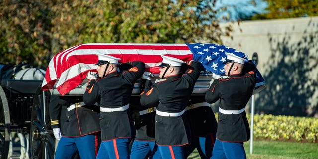 Medal of Honor recipientMarine Pfc. Bruce Carter was buried at Arlington National Cemetery on Wednesday.