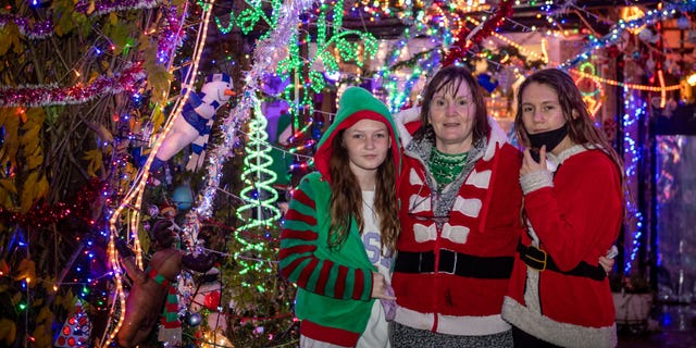 Dave Edwards' family decided to still hold the annual switch-on event, which has reportedly drawn hundreds of people in past years.