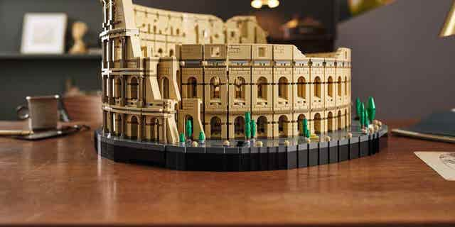 The Roman Colosseum surpasses the Milennium Falcon, which was previously the largest Lego set ever.
