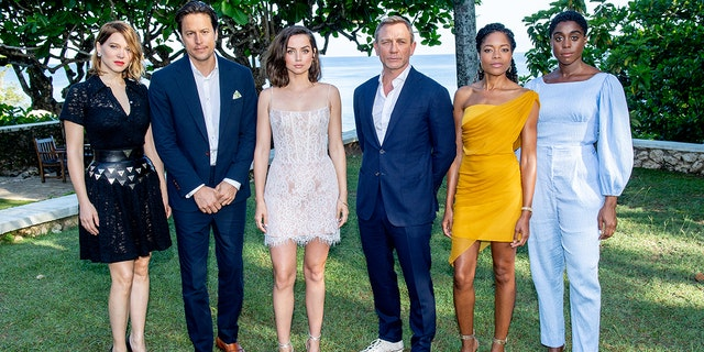 Lashana Lynch, yes, said she received a backlash after it was reported that she was cast as Daniel Craig, the center, as Agent 007. (Photo by Roy Rochlin / Getty Images for Metro Goldwyn Mayer Pictures)