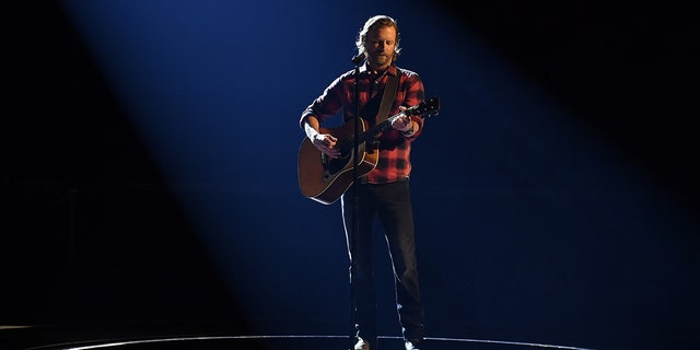 Dierks Bentley performs at the 54th Annual CMA Awards, hosted by Reba McEntire and Darius Rucker aired from Nashville's Music City Center.