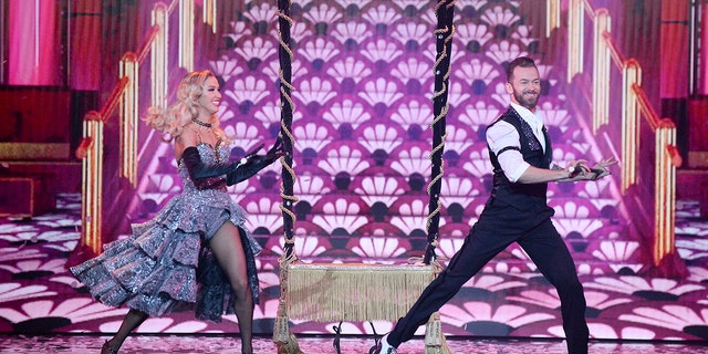 Kaitlyn Bristowe and Artem Chigvintsev compete during the Season 29 finale of 'Dancing with the Stars' on Monday night.