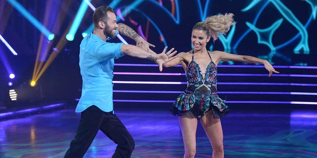 Kaitlyn Bristowe (right) and Artem Chigvintsev (left) received criticism from Inaba. (Eric McCandless via Getty Images)