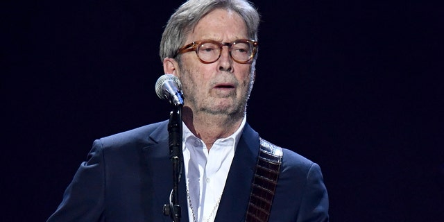 Eric Clapton performs on stage during Music For The Marsden 2020 at The O2 Arena on March 03, 2020, in London, England. (Photo by Gareth Cattermole/Gareth Cattermole/Getty Images)