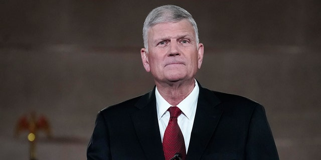 The Rev. Franklin Graham, son of the late evangelical Christian leader Billy Graham, is seen in Washington, Aug. 27, 2020. (Getty Images)