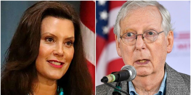 Michigan Gov. Gretchen Whitmer and Senate Majority Leader Mitch McConnell are both nominees for Time magazine's Person of the Year 2020 -- along with a slew of celebrities and health care workers.