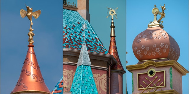 It's packed with design details inspired by 13 stories of Disney princesses and queens. (Disney)