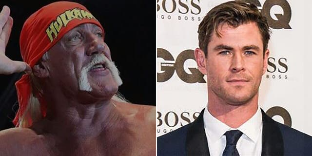 Hulk Hogan, who actor Chris Hemsworth is set to portray in an upcoming biopic, took a moment to comment on the star's recent workout photo.