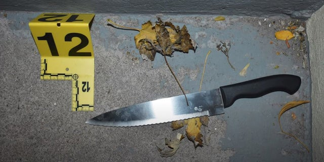 Police recovered a knife at the scene. (Weber County Attorney's Office)
