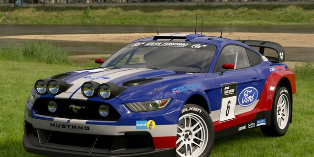 The Playstation videogame Gran Turismo Sport features a fantasy Ford Mustang rally car with all-wheel-drive.