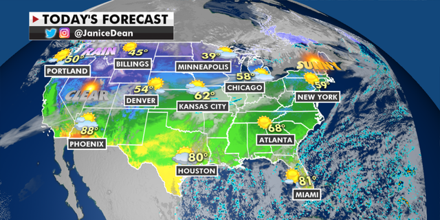 Quiet weekend with rain, mild weather for much of country - thumbnail JD National ManualMap.pngnov20