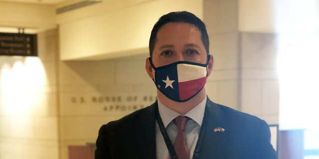 Rep-elect Tony Gonzales, R-Texas, is at the Capitol for new member congressional orientation on Nov. 13. 2020. (Marisa Schultz/Fox News)